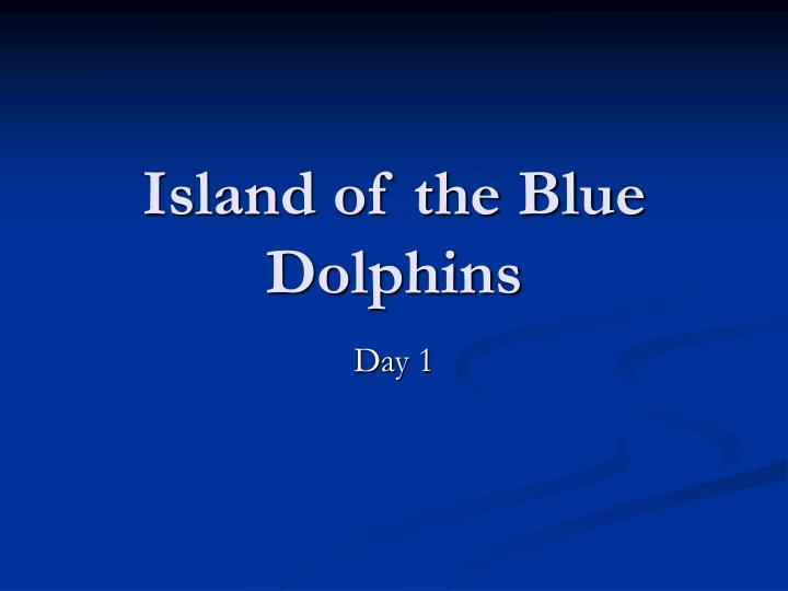 island of the blue dolphins n.