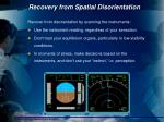 recovery from spatial disorientation