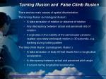 turning illusion and false climb illusion