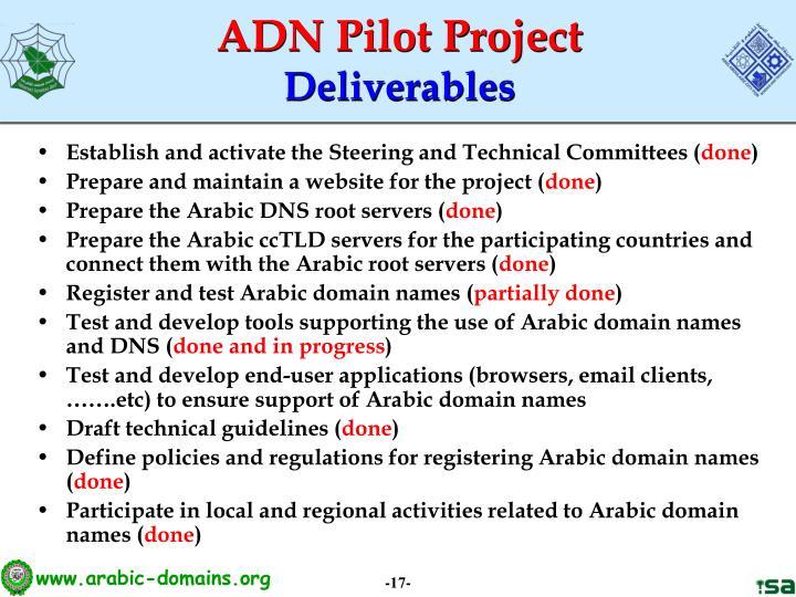 ADN Pilot Project