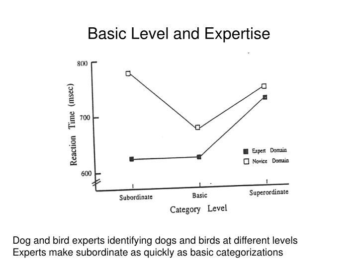 Basic Level and Expertise