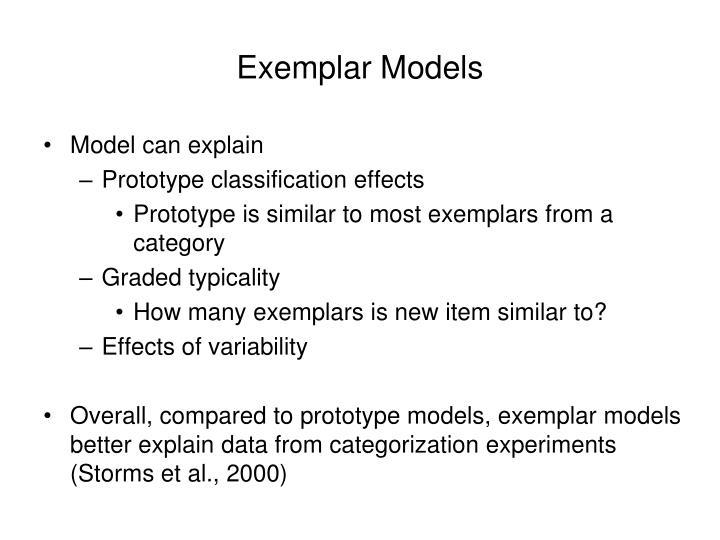 Exemplar Models
