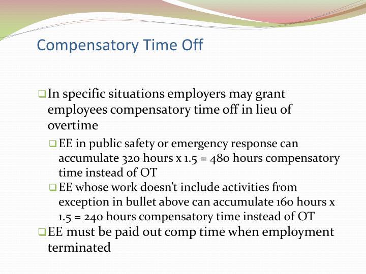 Compensatory Time Off