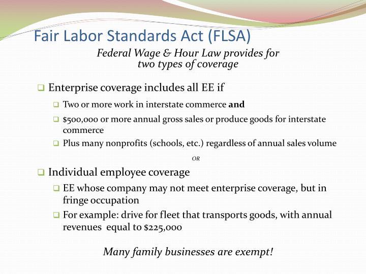 Fair labor standards act flsa