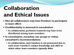 collaboration and ethical issues
