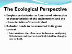 the ecological perspective
