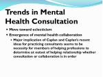 trends in mental health consultation
