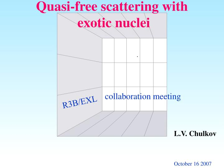 quasi free scattering with exotic nuclei