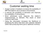 customer waiting time