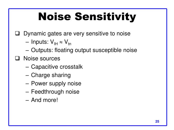 Noise Sensitivity