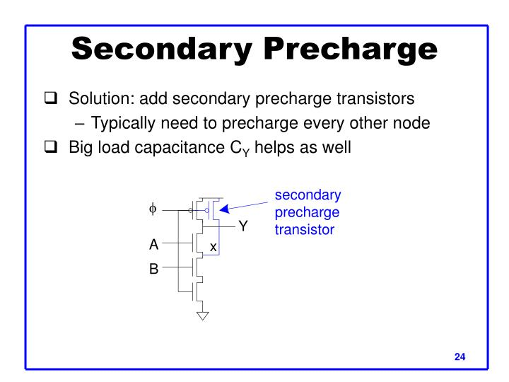 Secondary Precharge