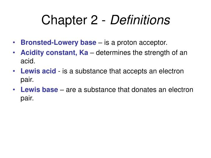 Chapter 2 definitions1