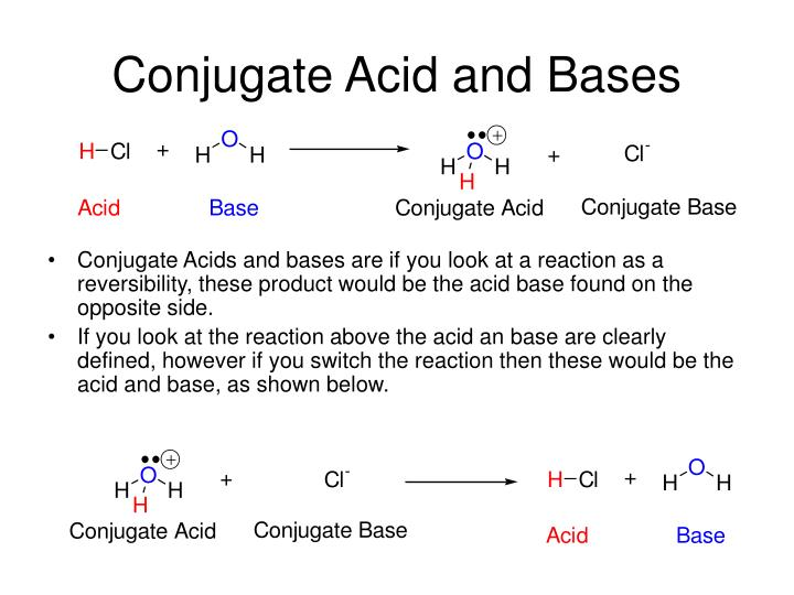 Conjugate Acid and Bases