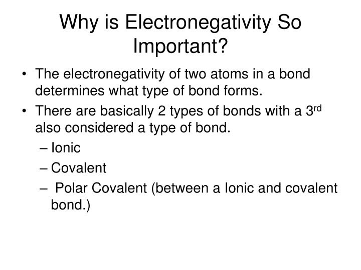 Why is Electronegativity So Important?