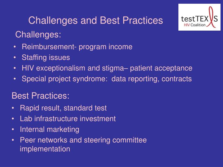 Challenges and Best Practices
