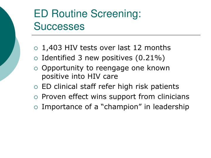ED Routine Screening: