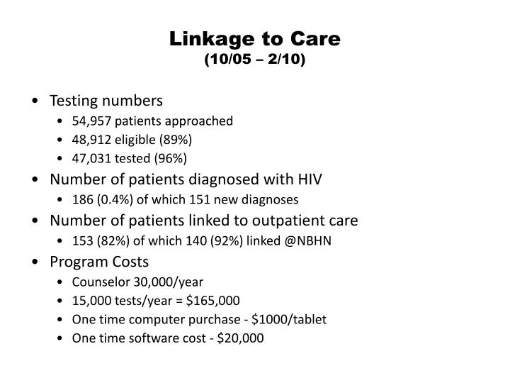 Linkage to Care