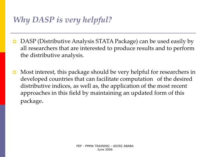 Why dasp is very helpful