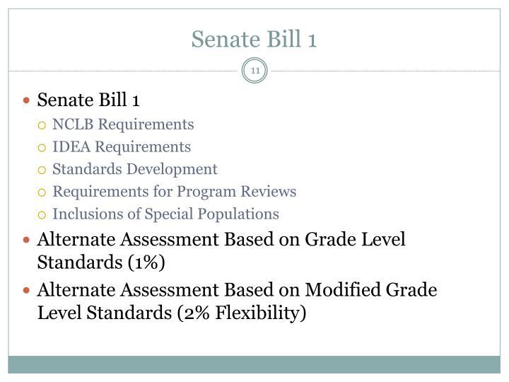 Senate Bill 1