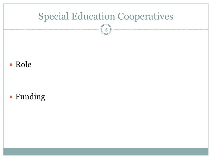 Special Education Cooperatives