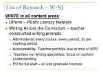 use of research w nj