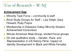 use of research w nj3