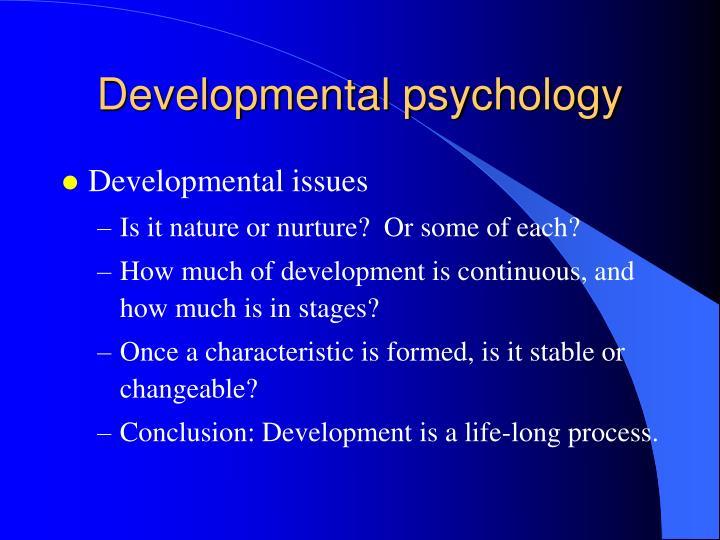 Developmental psychology1