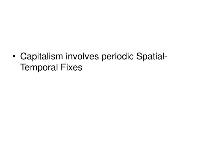 Capitalism involves periodic Spatial-Temporal Fixes
