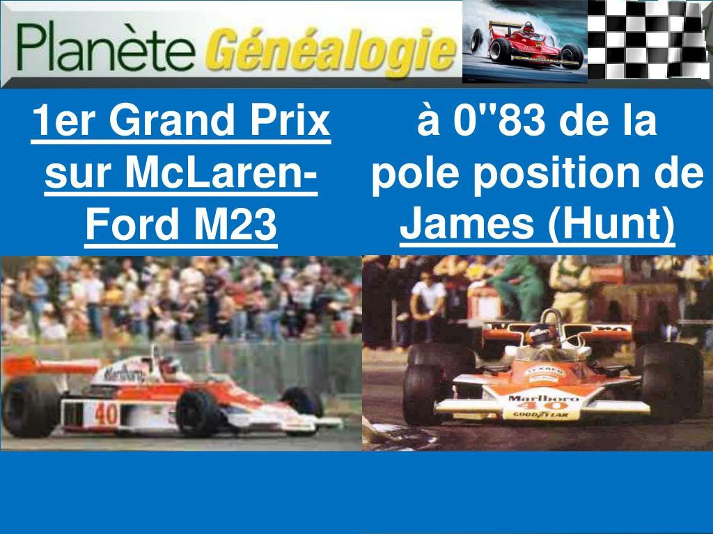1er Grand Prix sur McLaren-Ford M23