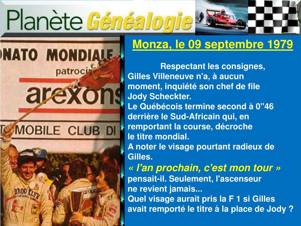 Monza, le 09 septembre 1979