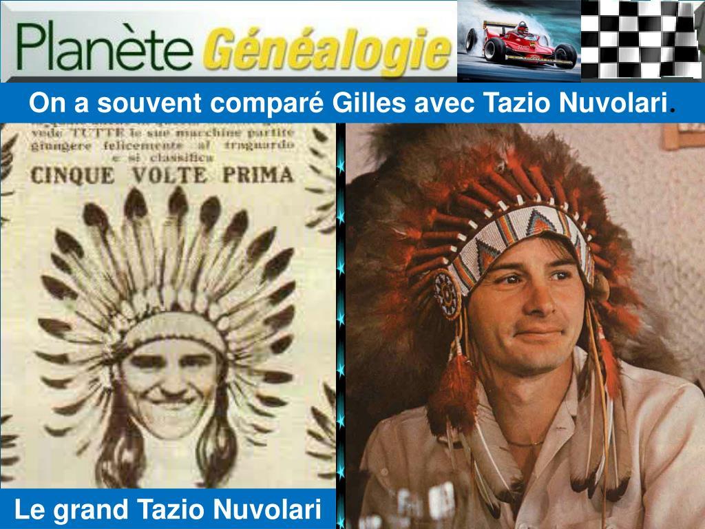 On a souvent comparé Gilles avec Tazio Nuvolari