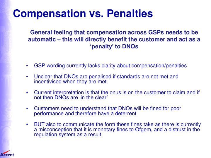 Compensation vs. Penalties