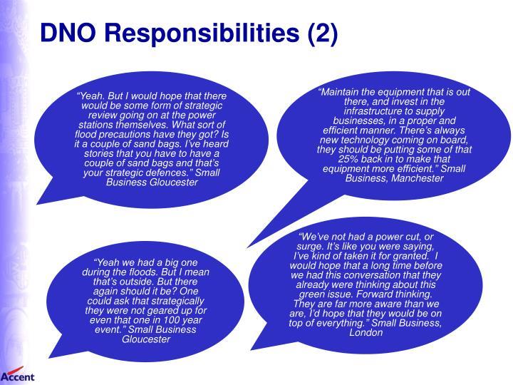 DNO Responsibilities (2)