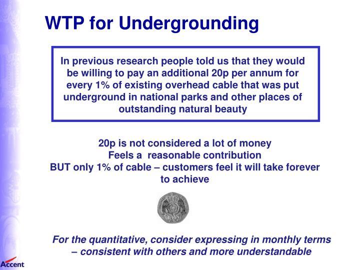 WTP for Undergrounding