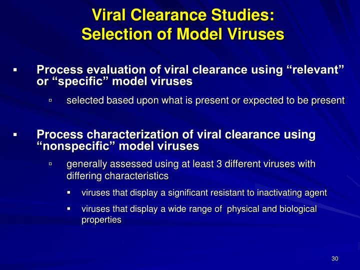 Viral Clearance Studies: