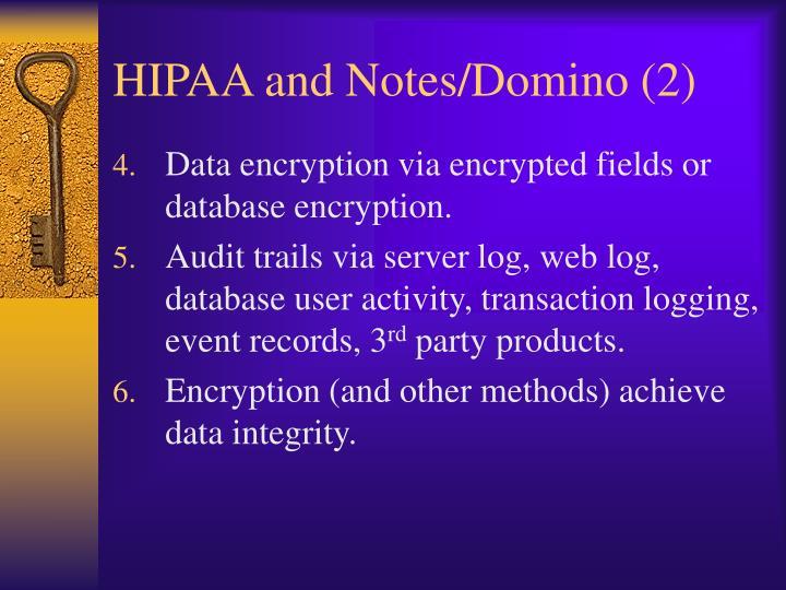 HIPAA and Notes/Domino (2)