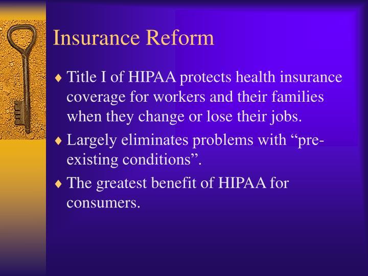 Insurance Reform