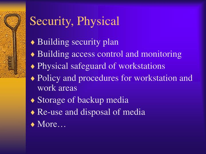Security, Physical