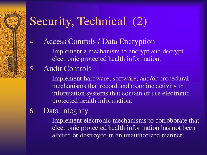 Security, Technical  (2)