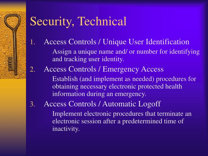 Security, Technical