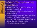 so what there are lots of big federal laws