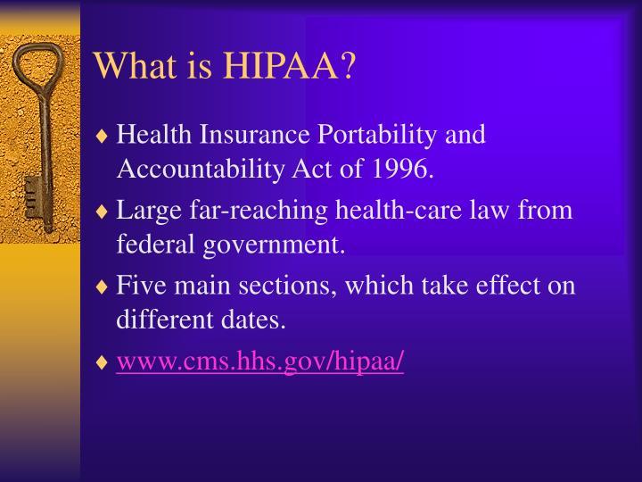 What is hipaa