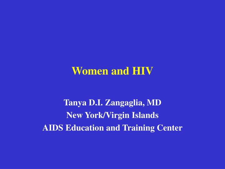Women and hiv