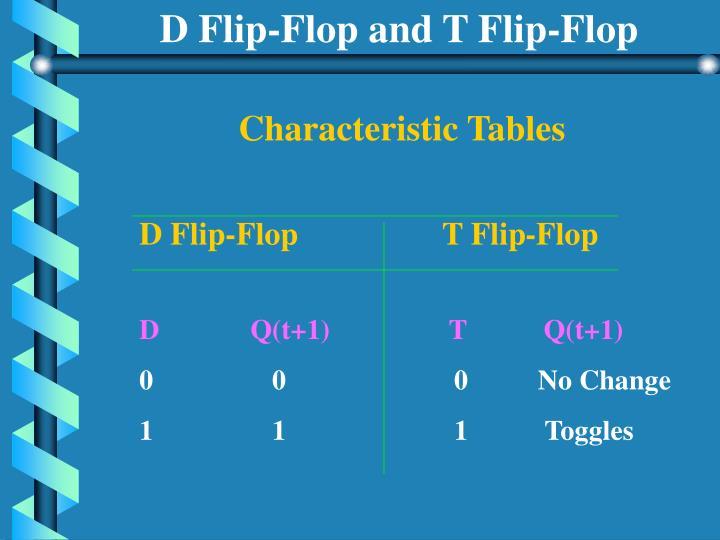 D Flip-Flop and T Flip-Flop