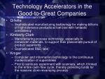 technology accelerators in the good to great companies1