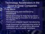 technology accelerators in the good to great companies3