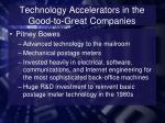 technology accelerators in the good to great companies4