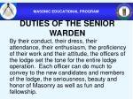 duties of the senior warden