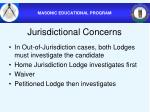 jurisdictional concerns