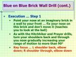 blue on blue brick wall drill cont1